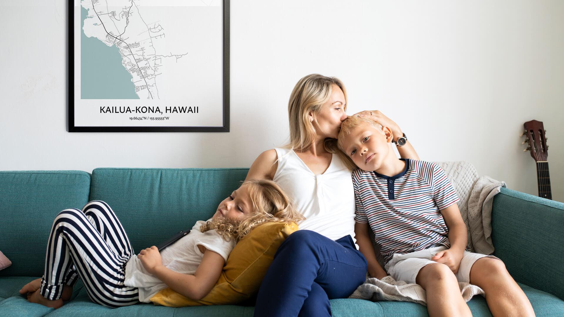 Kailua-Kona map poster