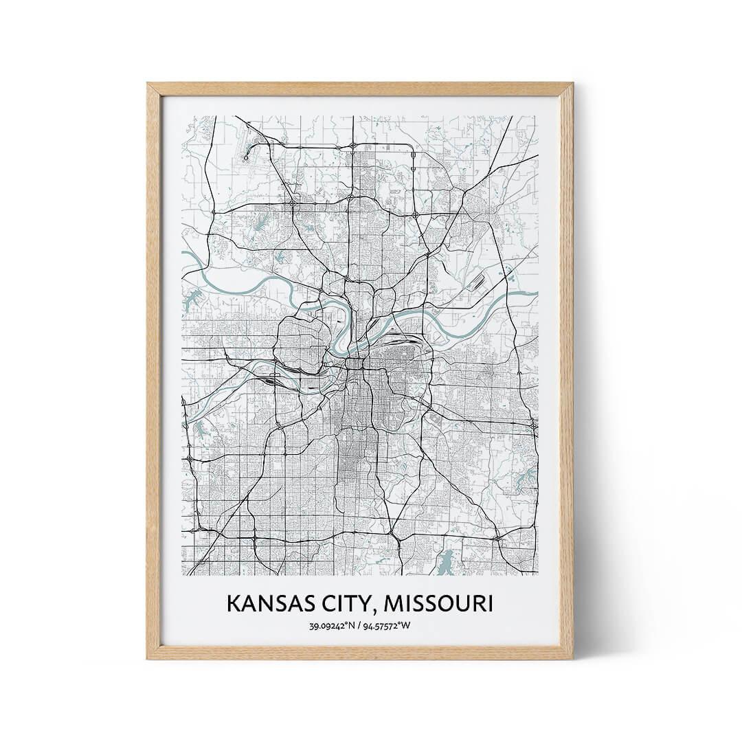 Kansas City city map poster