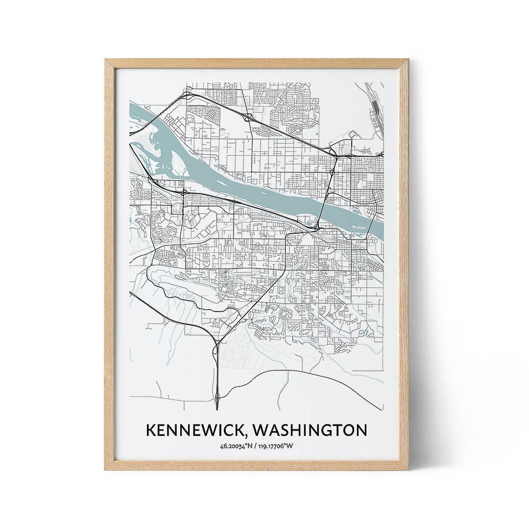 Kennewick city map poster