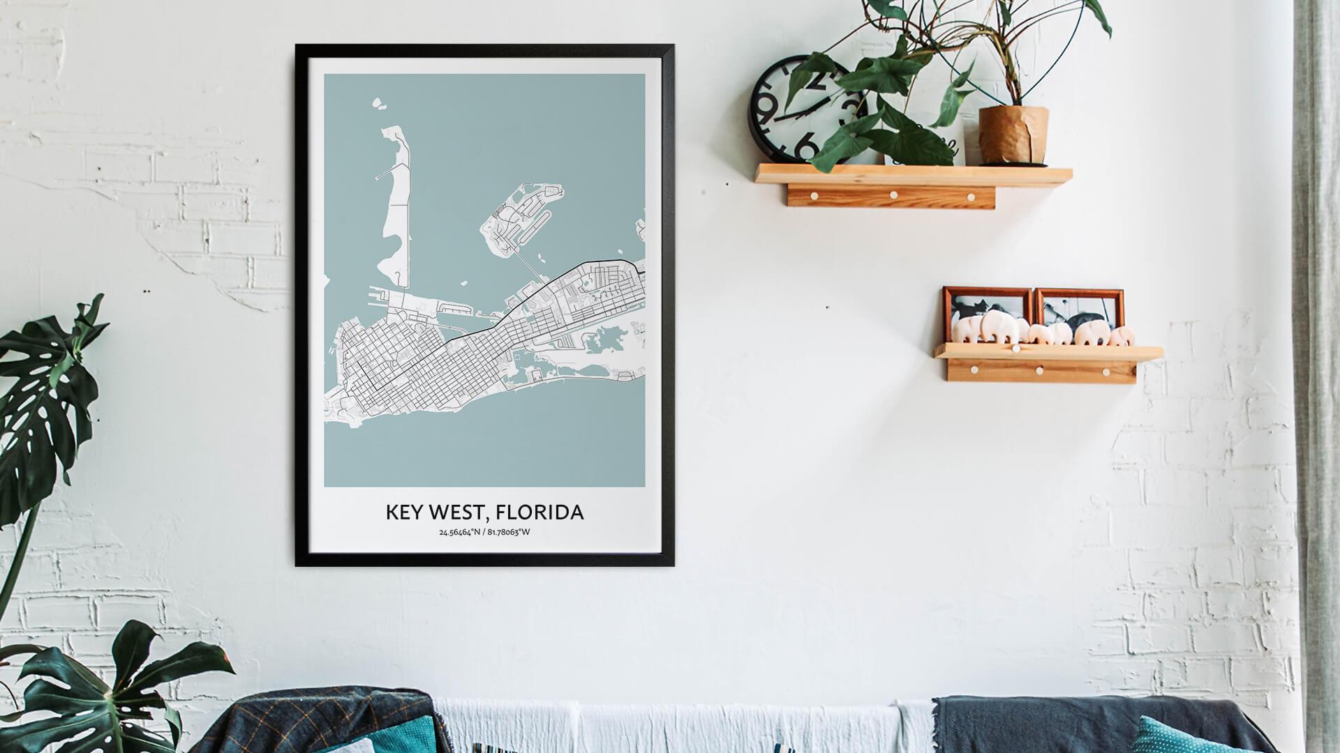 Key West map art