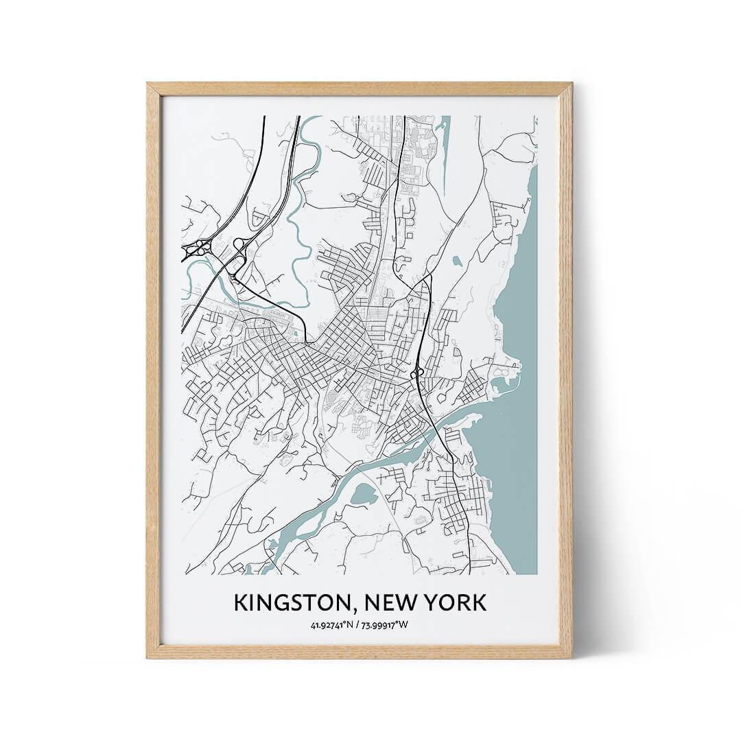 Kingston city map poster