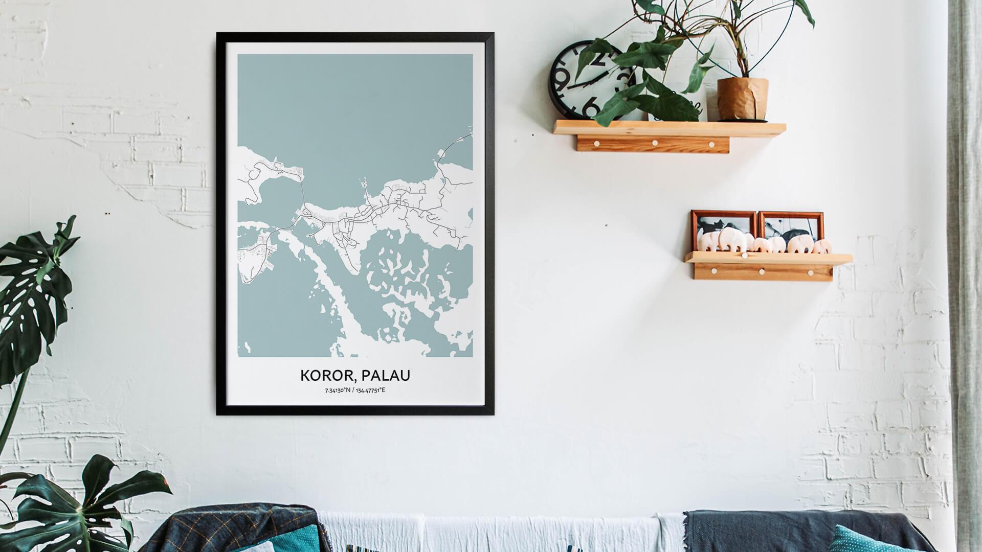 Koror map art