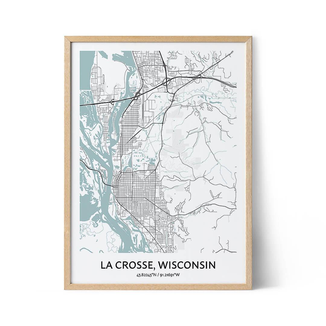 La Crosse city map poster