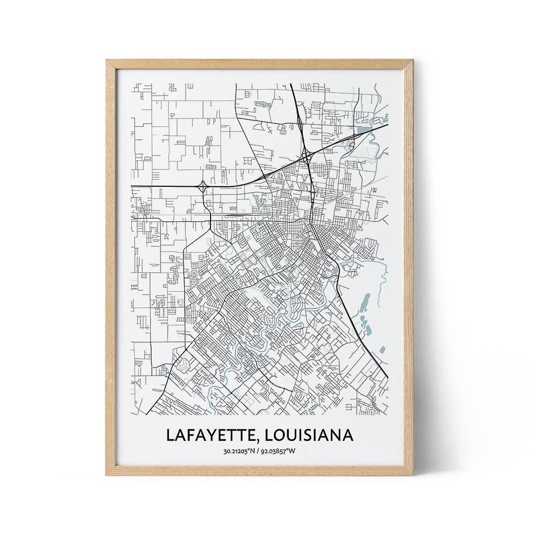Lafayette city map poster