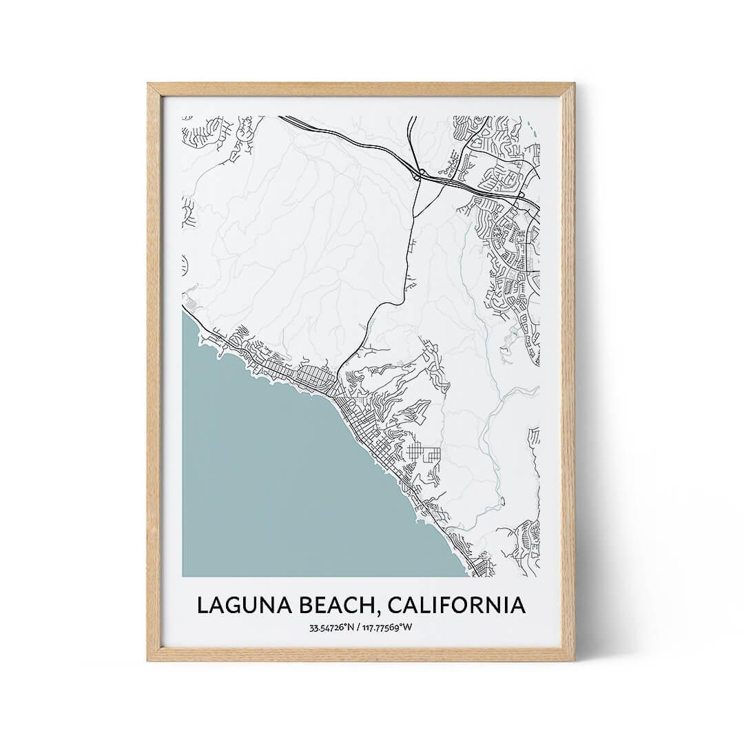 Laguna Beach city map poster