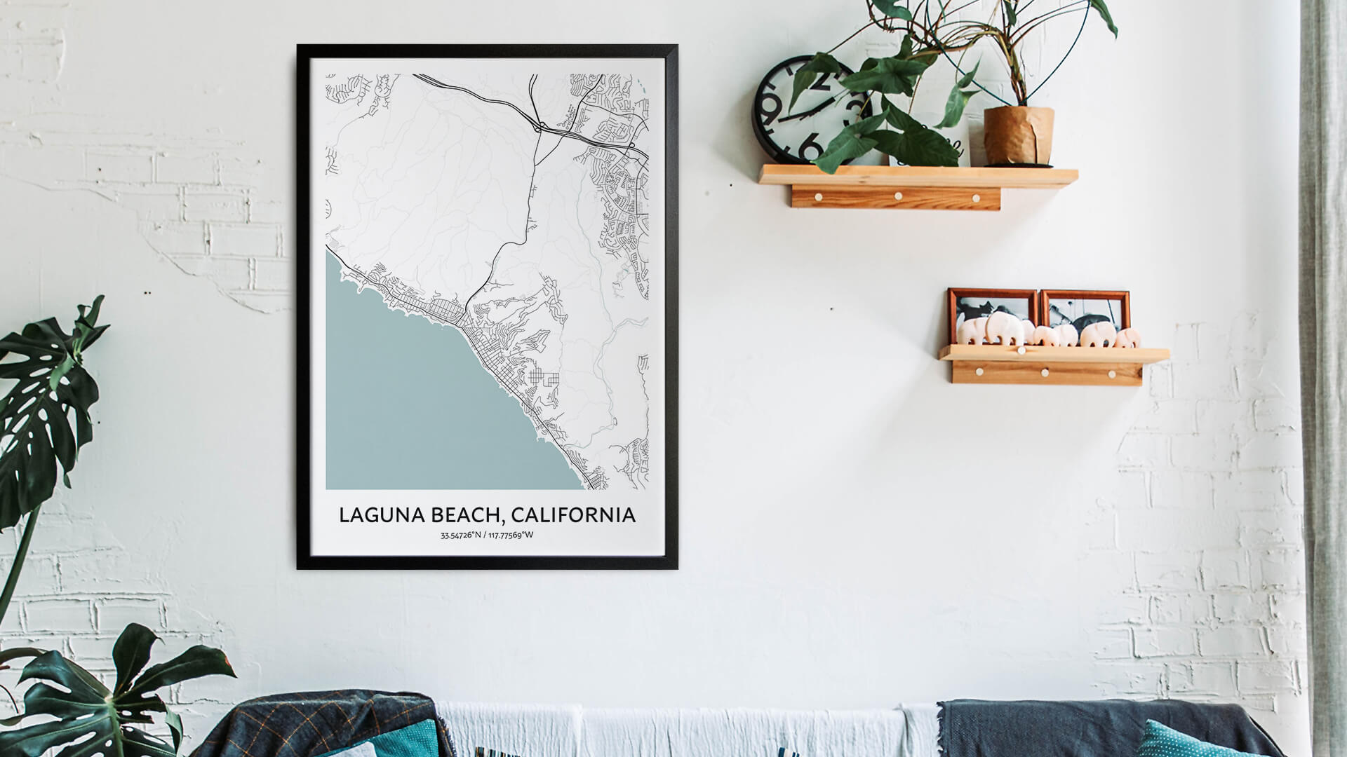 Laguna Beach map art