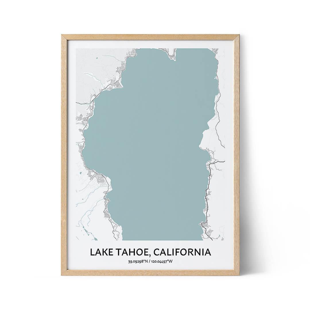 Lake Tahoe city map poster