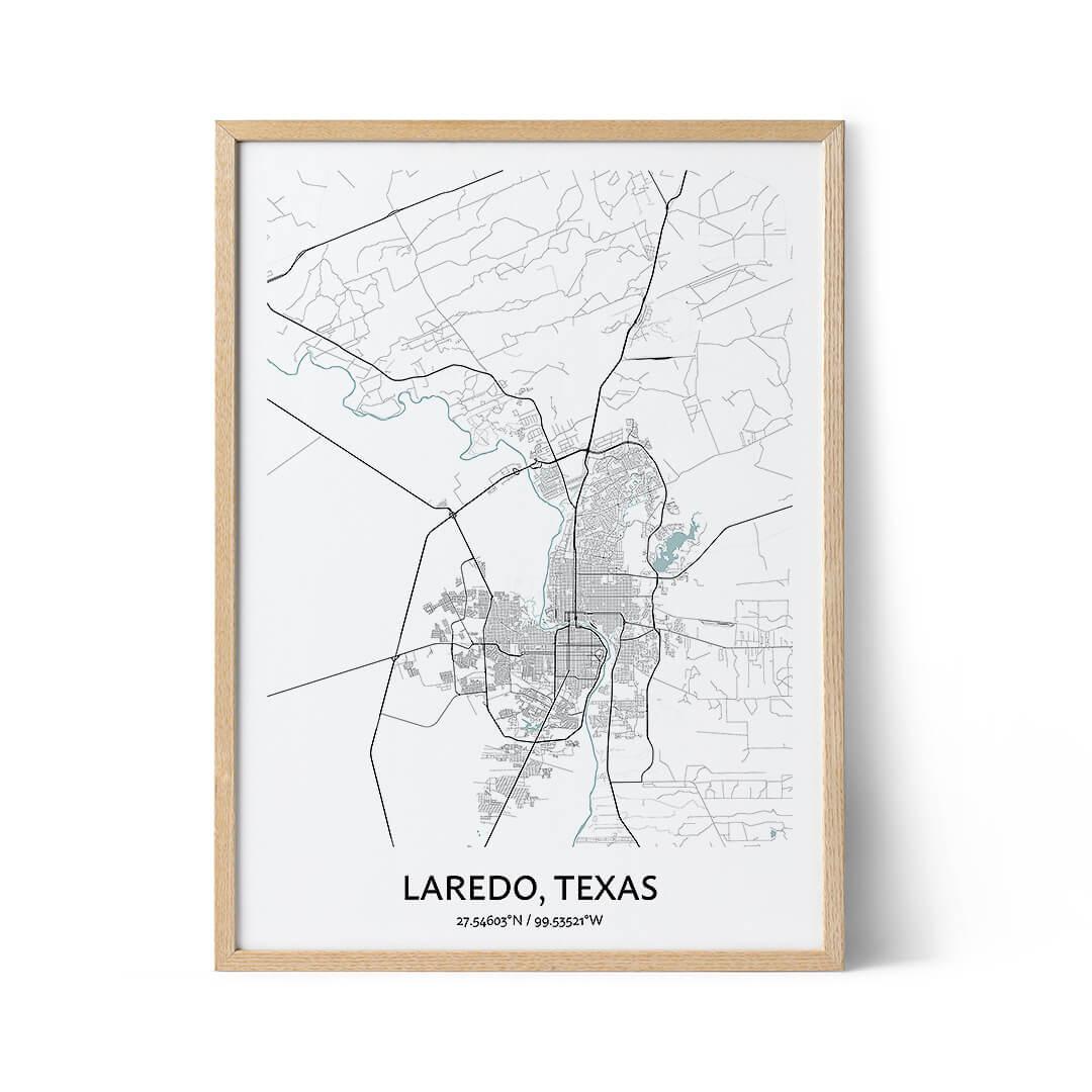 Laredo city map poster