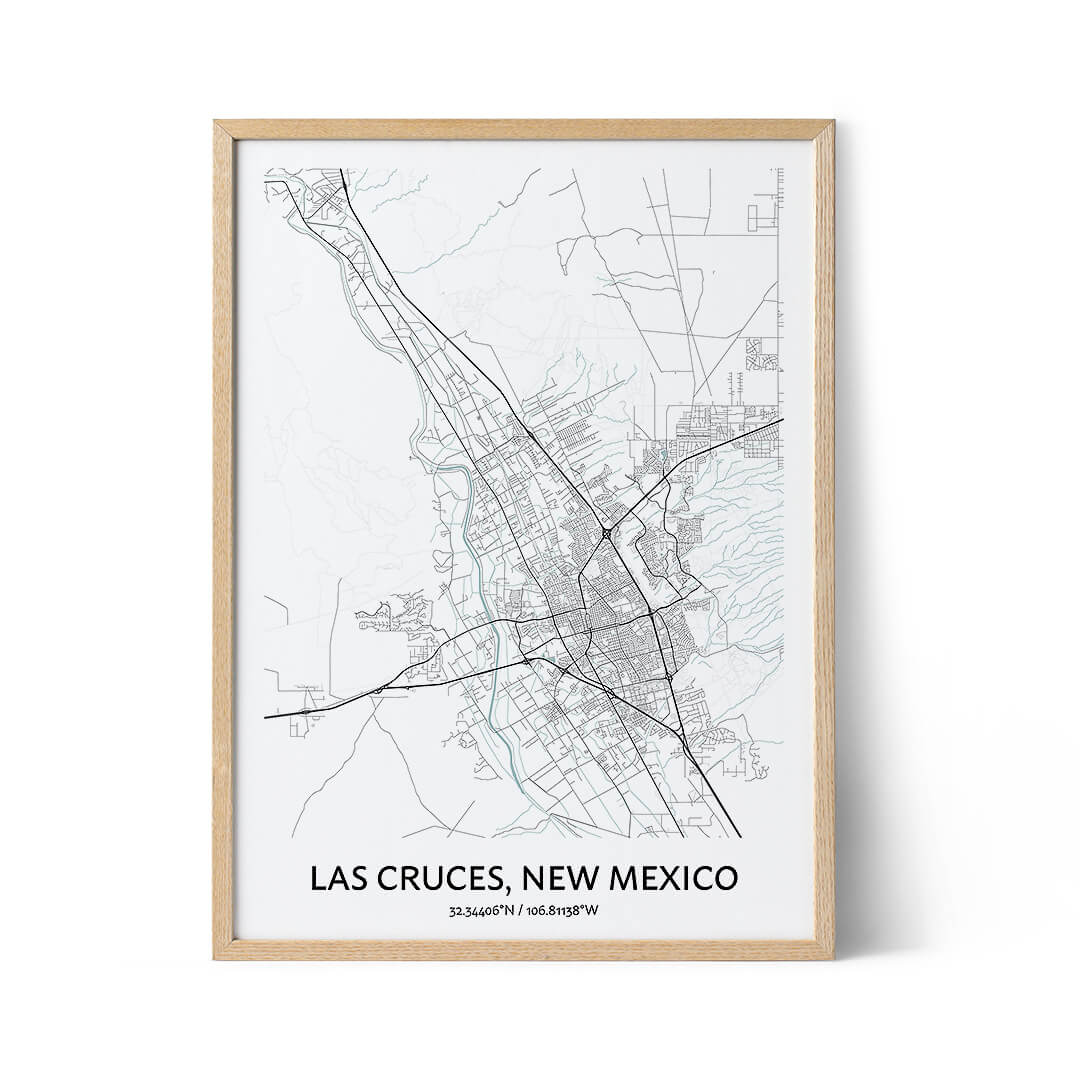 Las Cruces city map poster