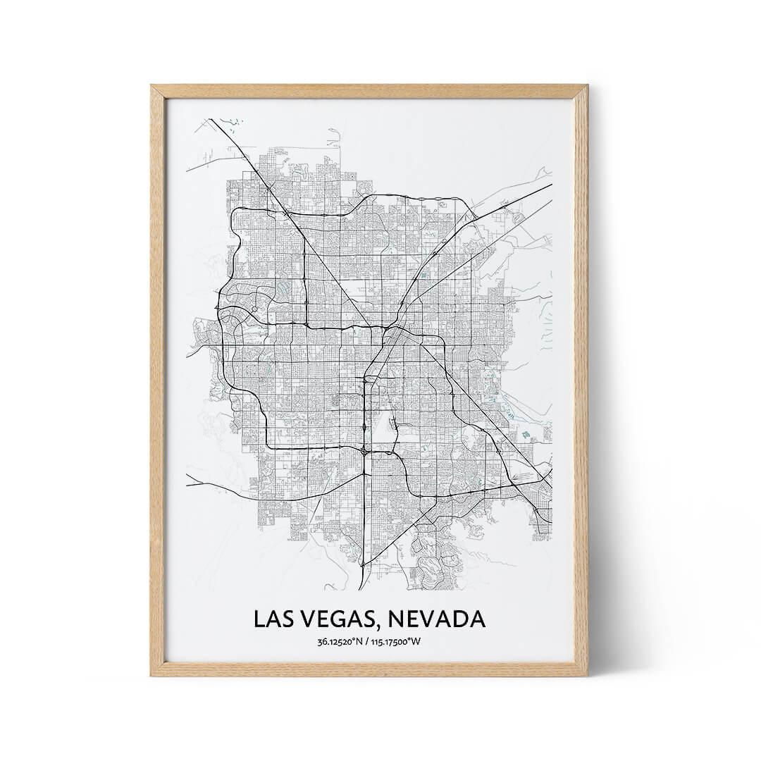 Las Vegas city map poster