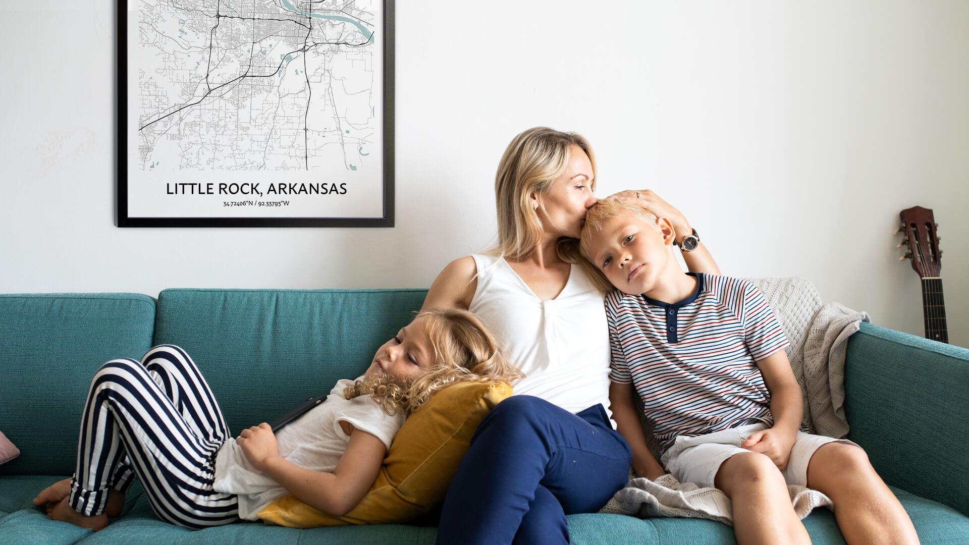 Little Rock map poster
