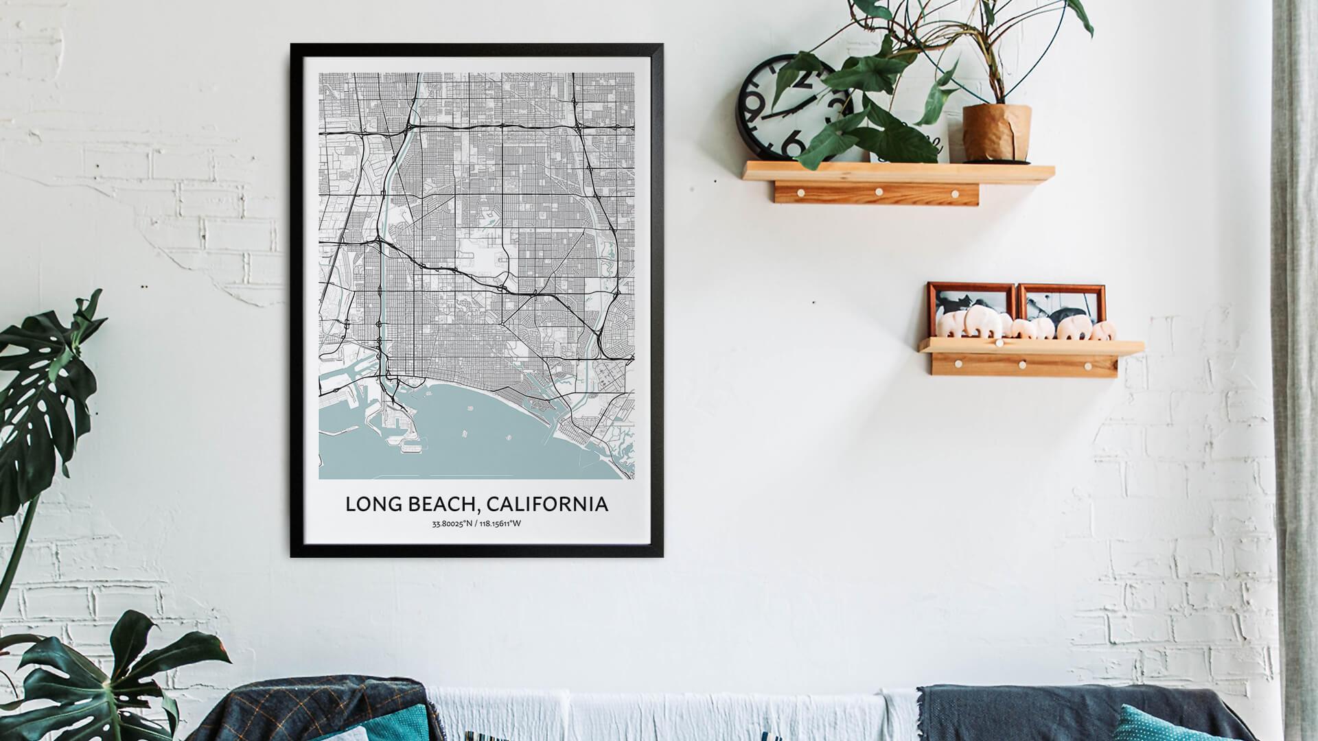 Long Beach map art