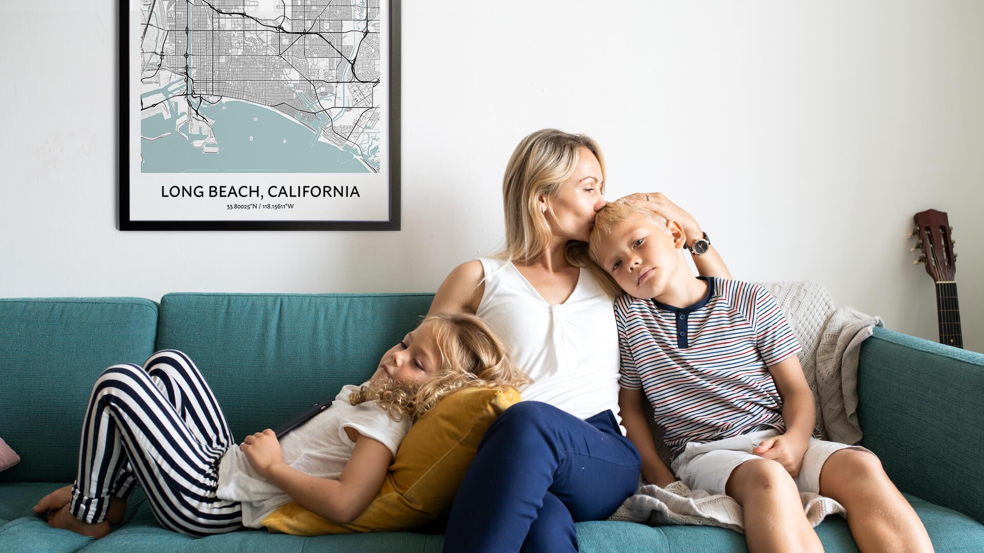 Long Beach map poster
