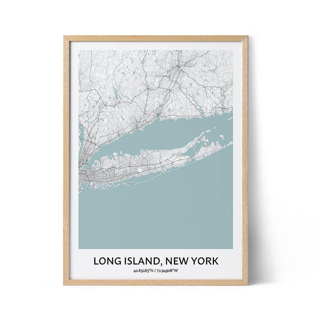 Long Island city map poster