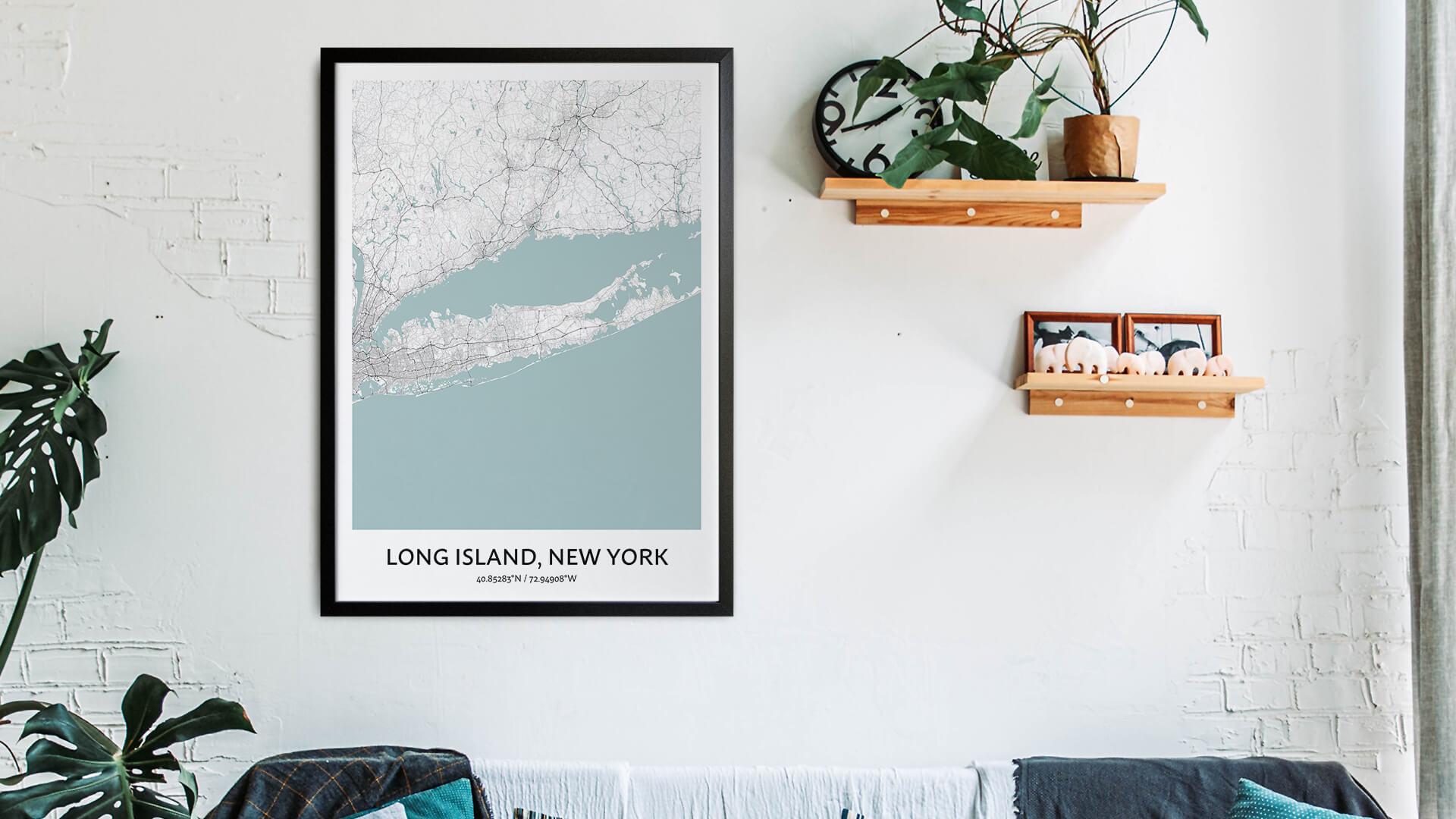 Long Island map art