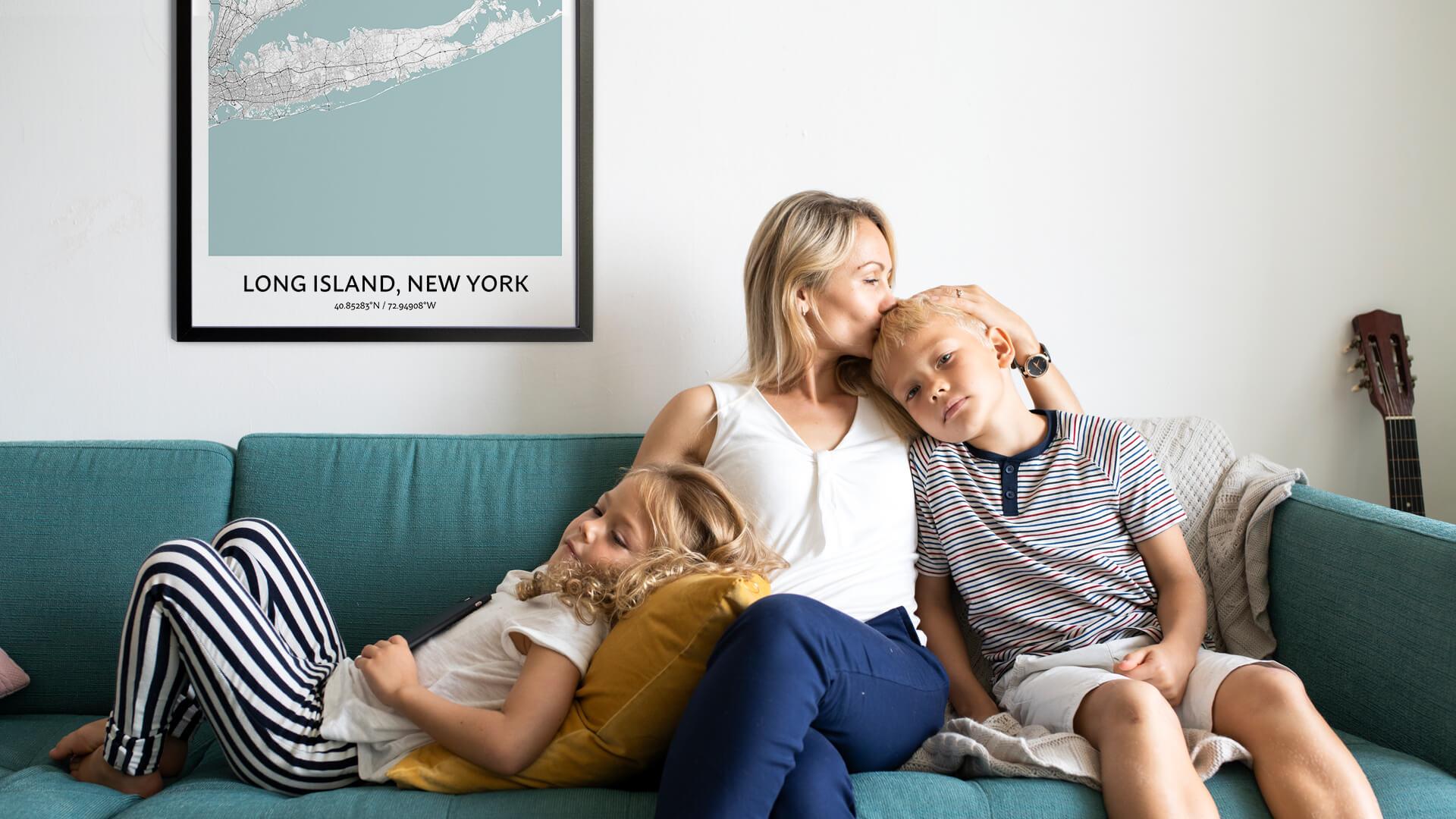 Long Island map poster