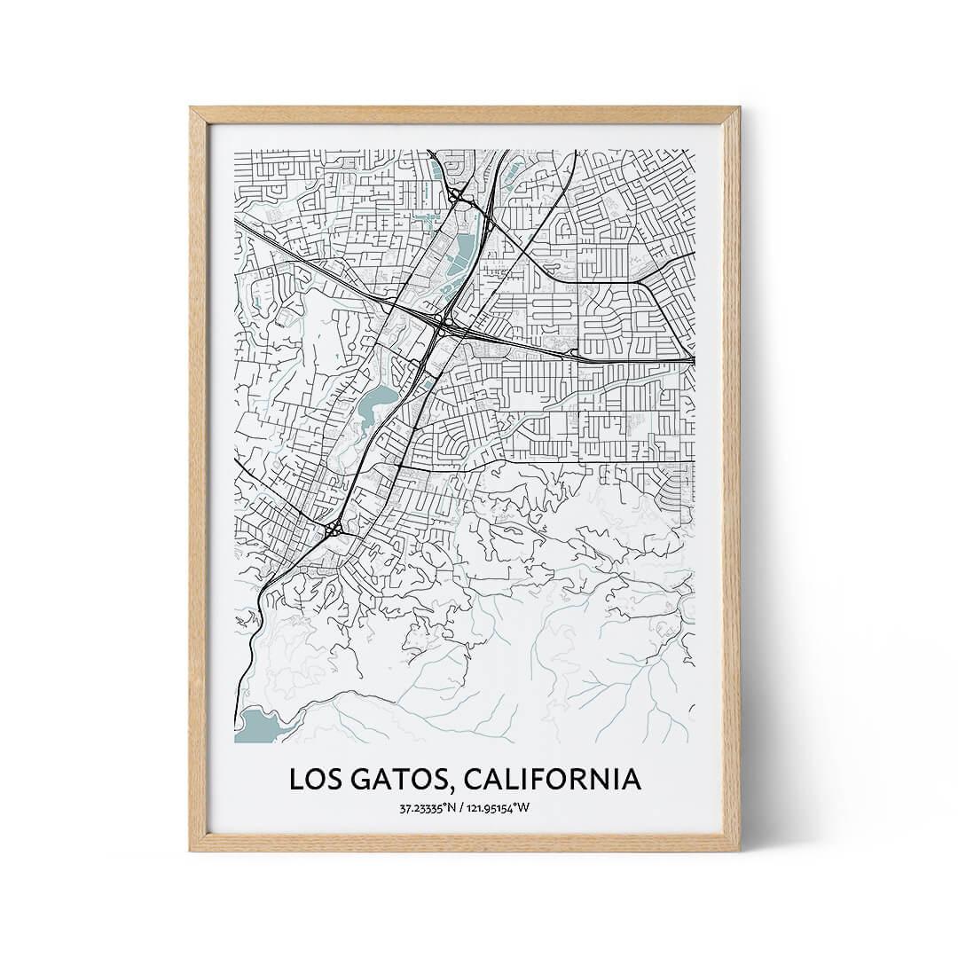 Los Gatos city map poster