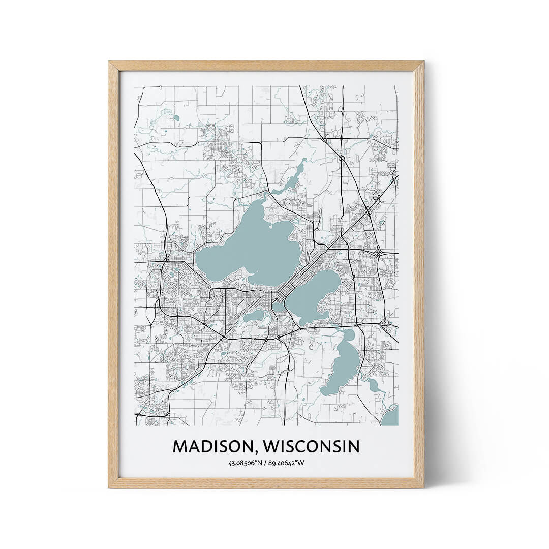 Madison city map poster
