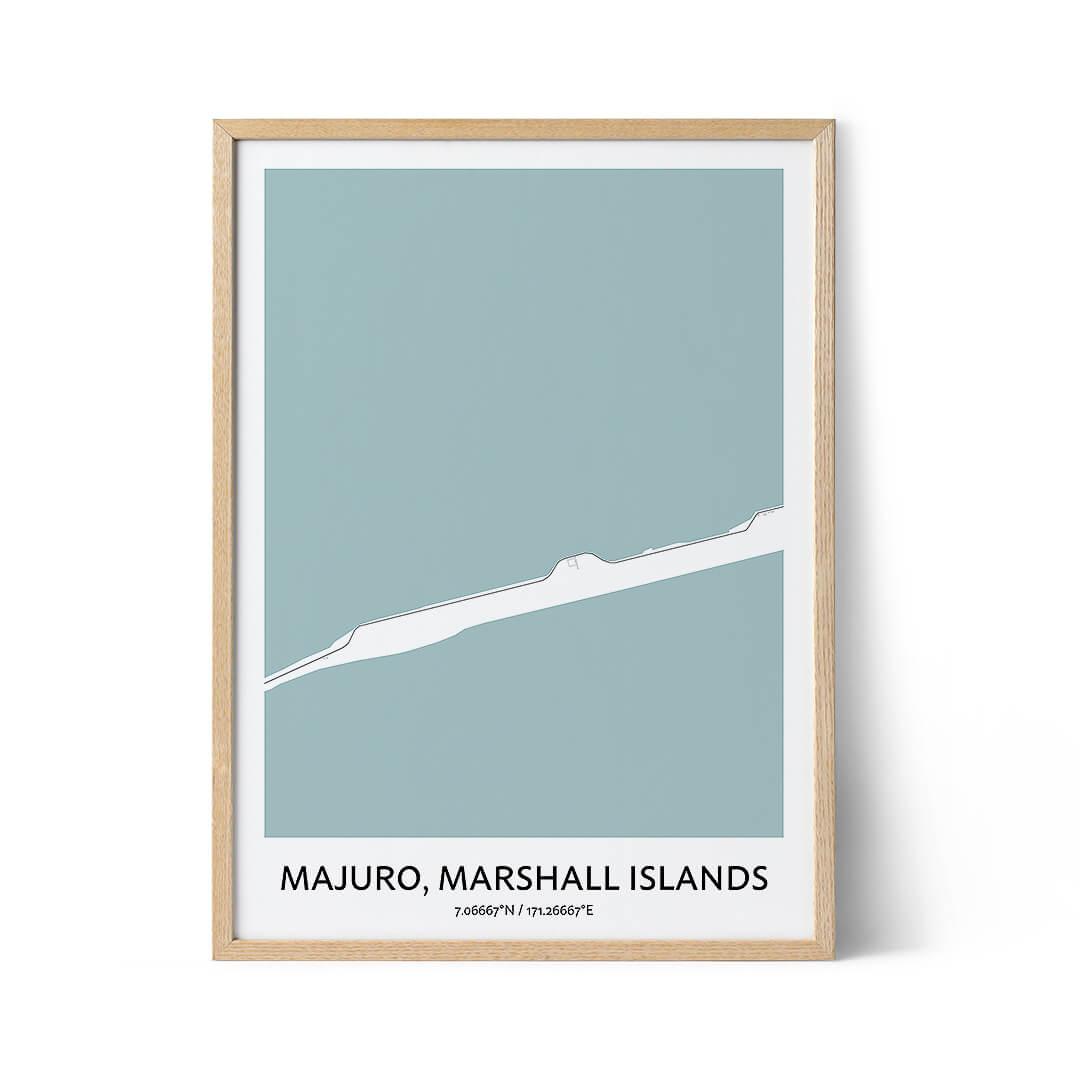 Majuro city map poster