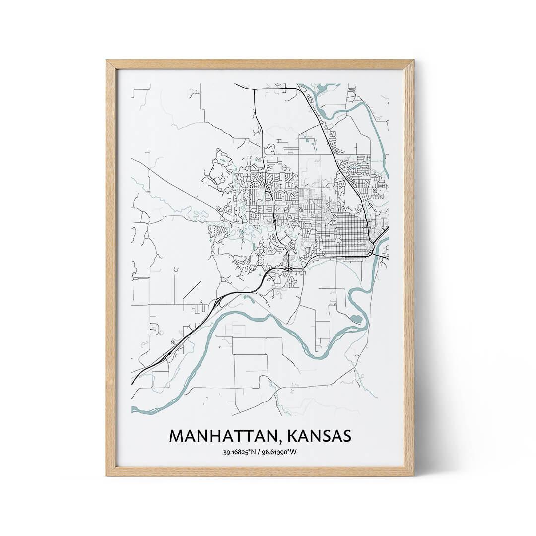 Manhattan city map poster