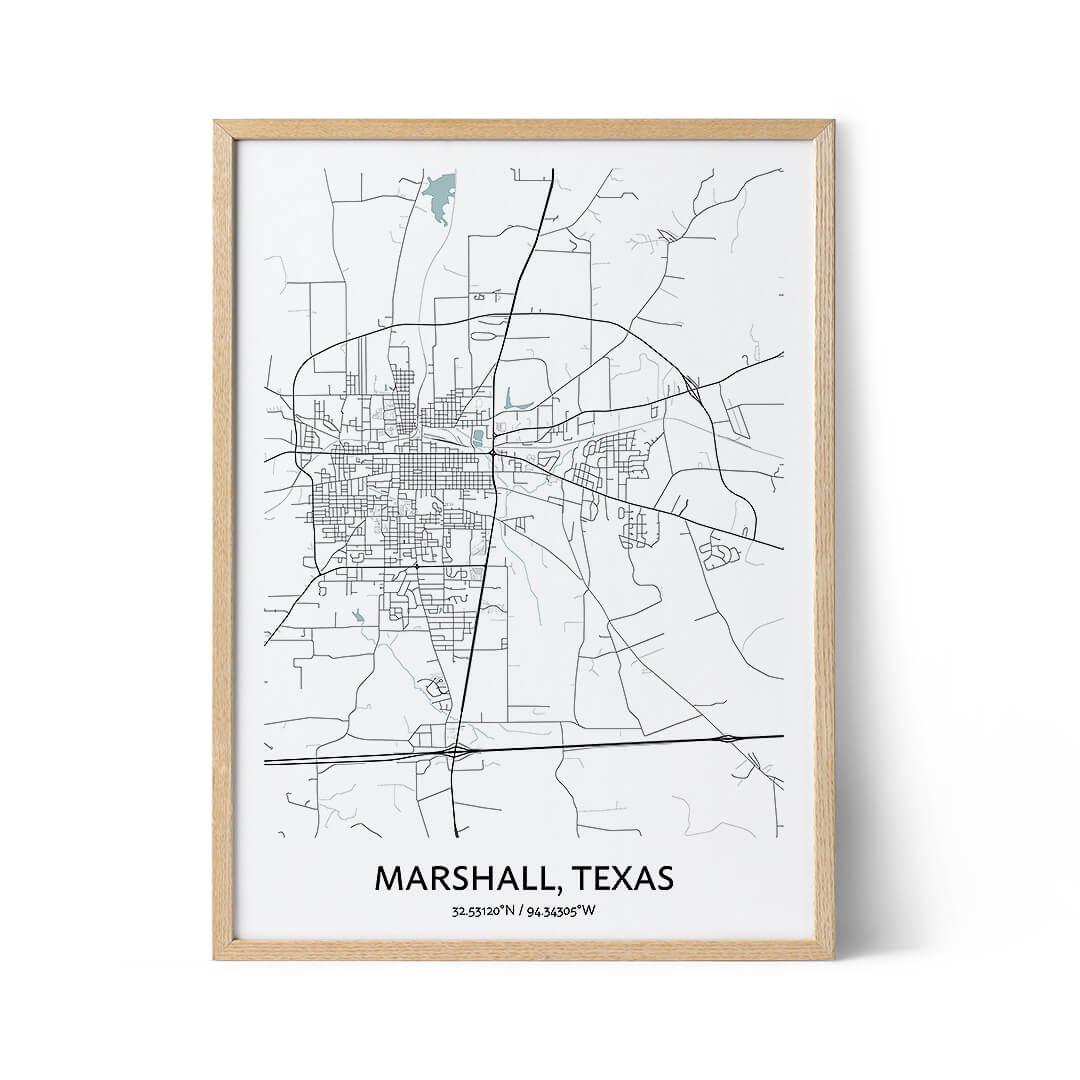 Marshall city map poster