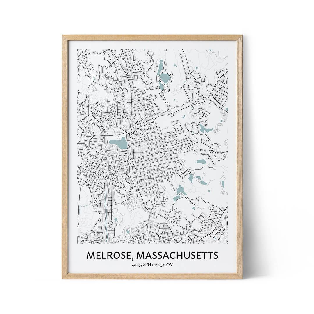 Melrose city map poster