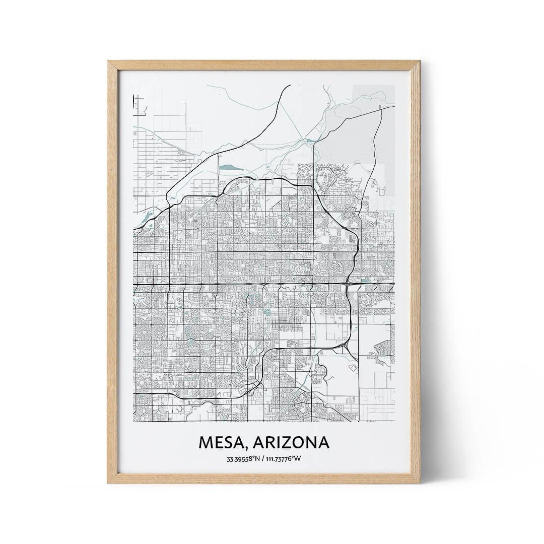Mesa city map poster