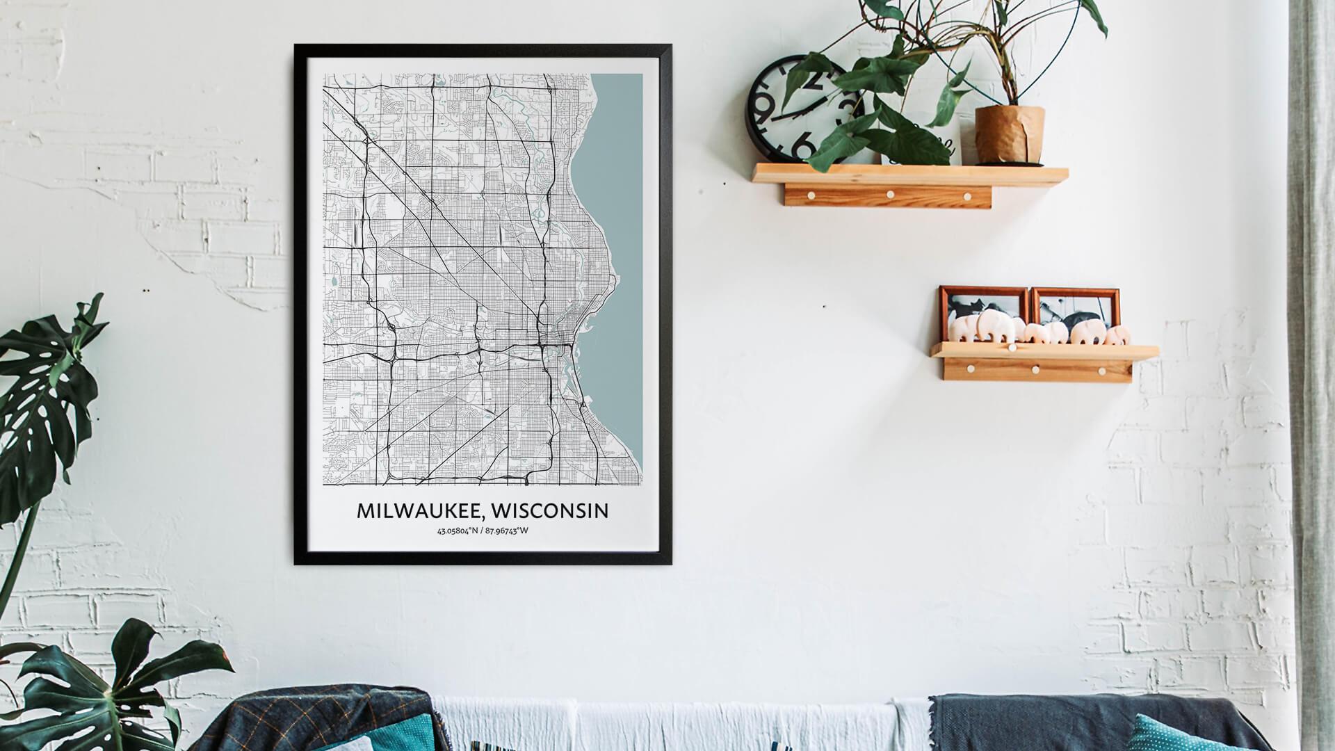 Milwaukee map art