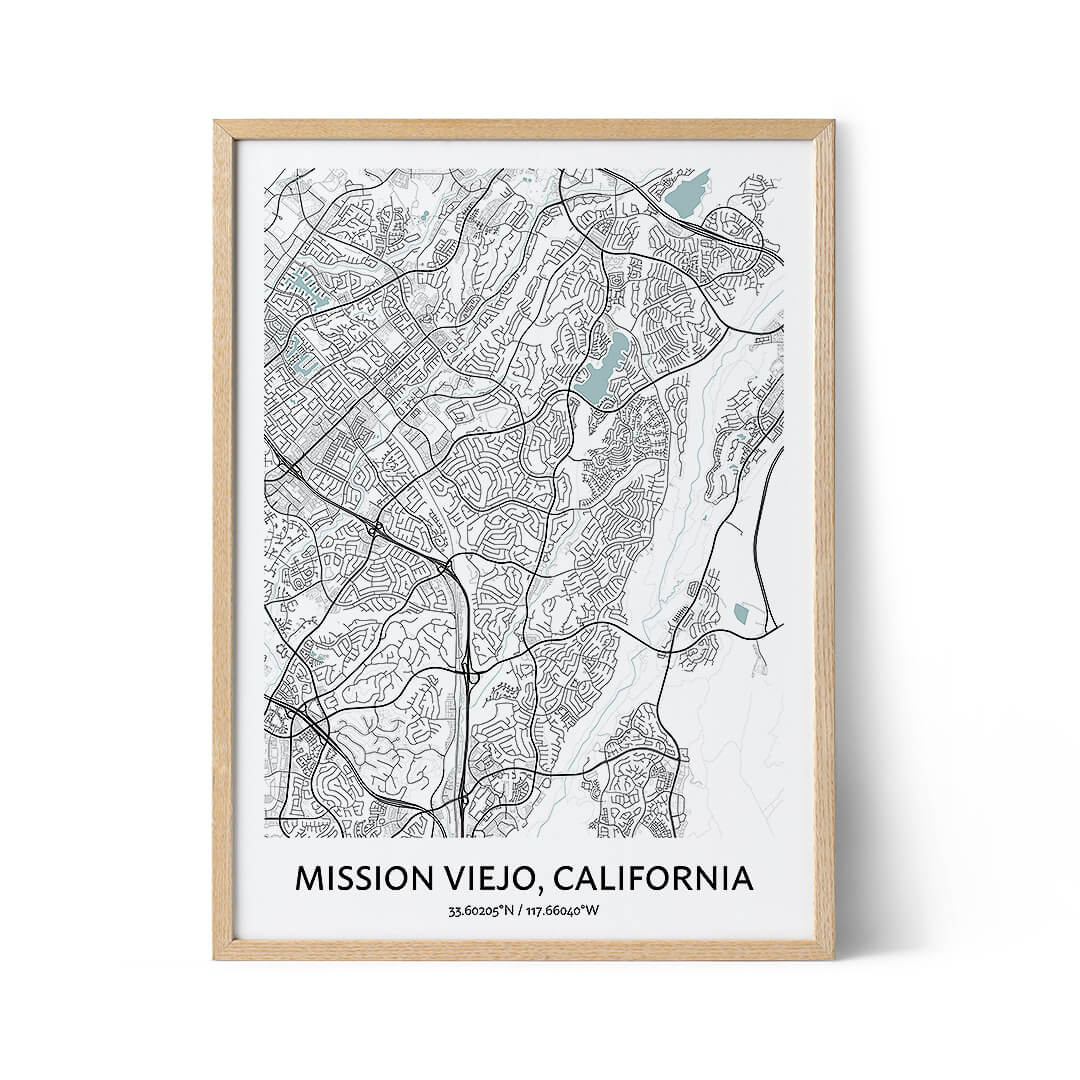 Mission Viejo city map poster