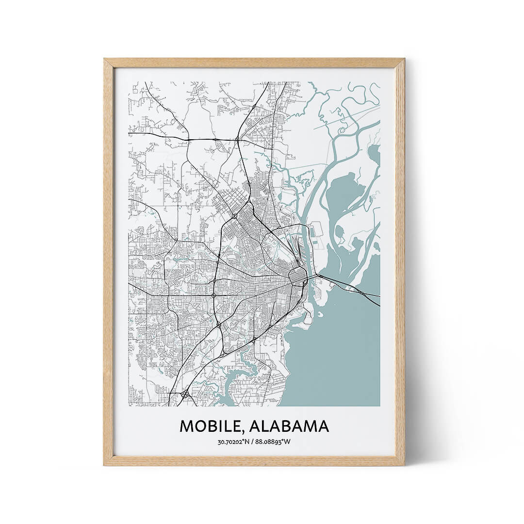Mobile city map poster