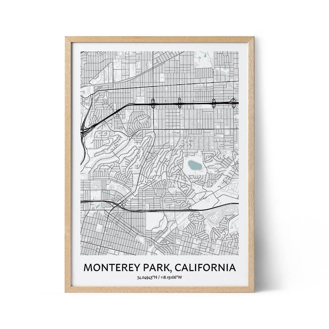 Monterey Park city map poster