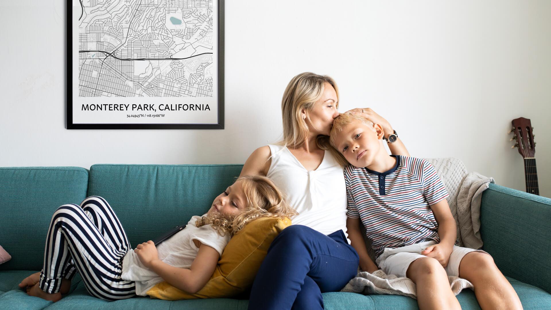 Monterey Park map poster