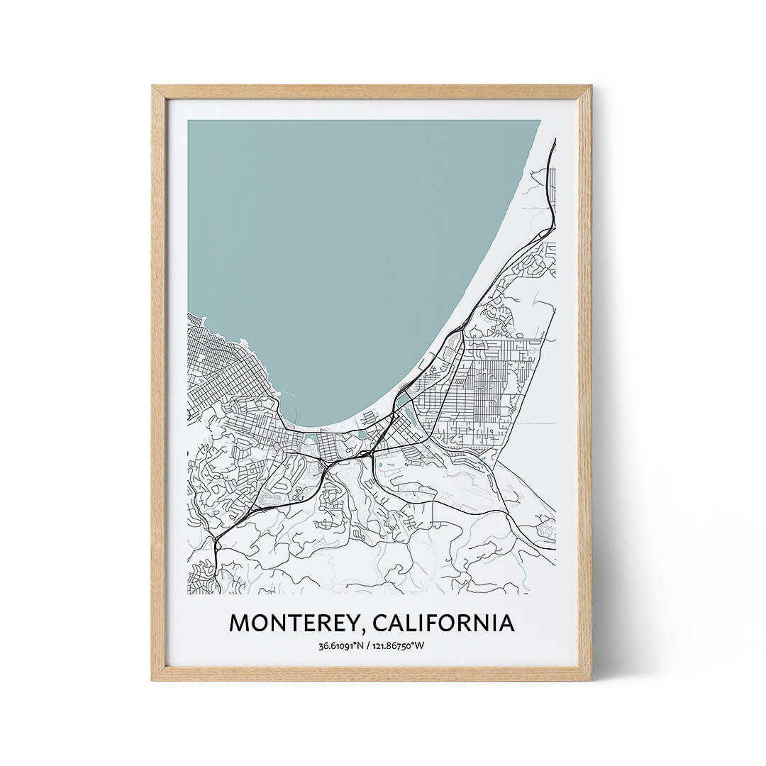 Monterey city map poster