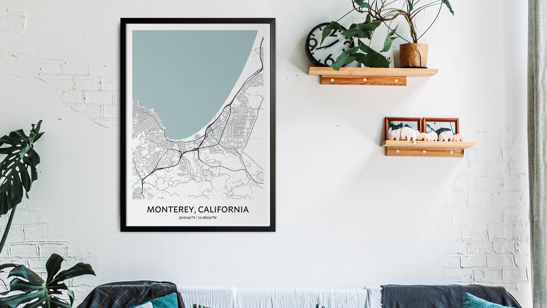 Monterey map art