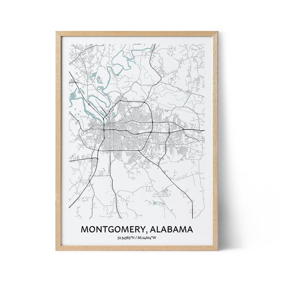 Montgomery city map poster