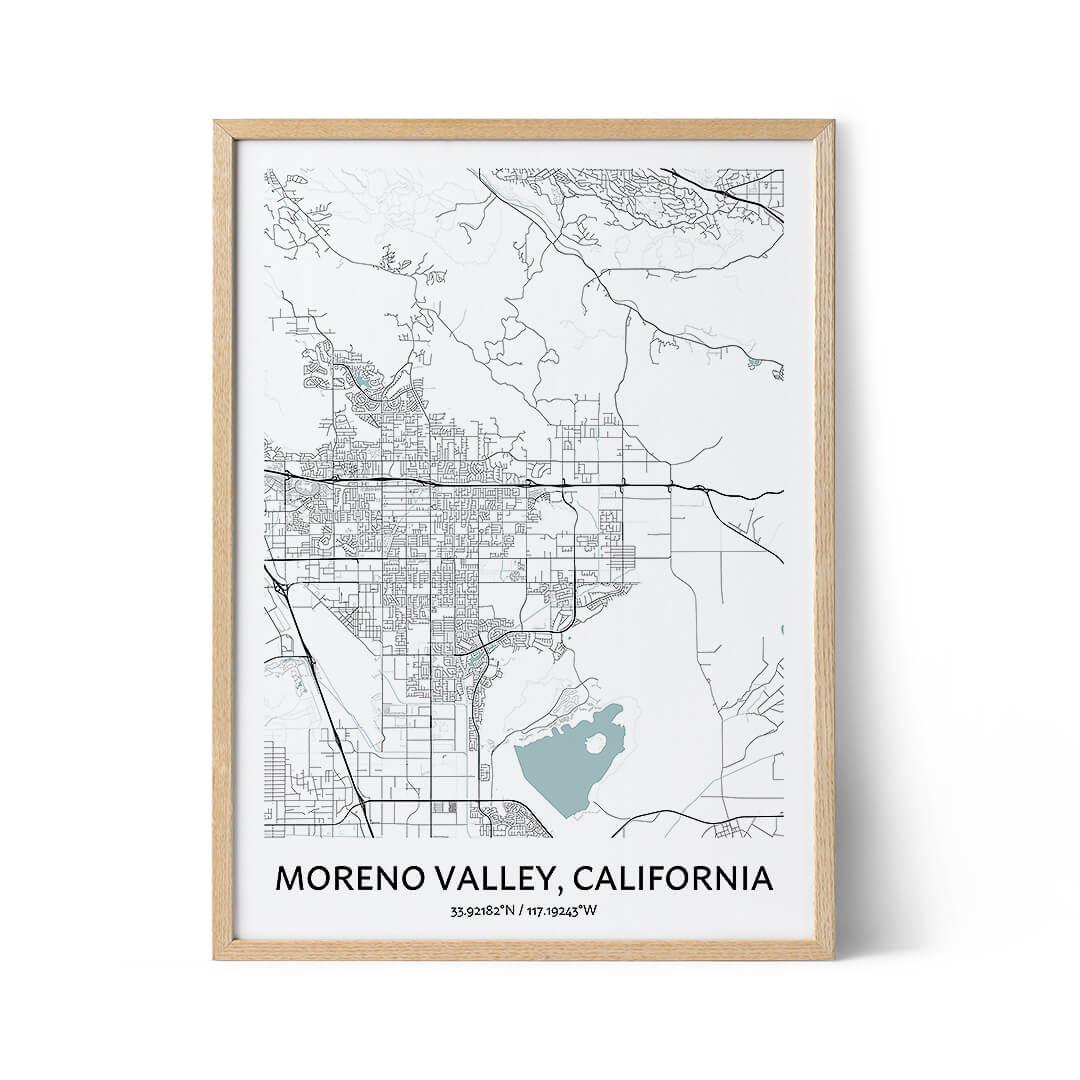 Moreno Valley city map poster