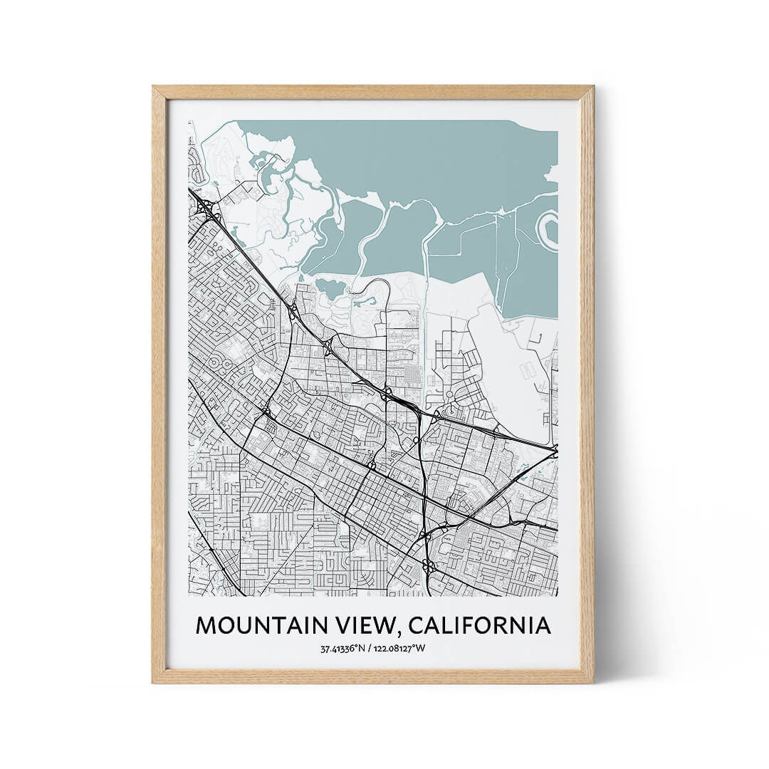 Mountain View city map poster
