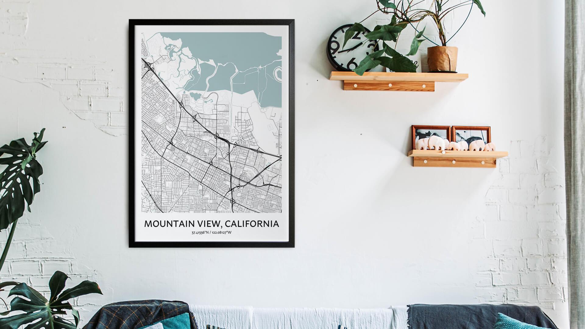 Mountain View map art