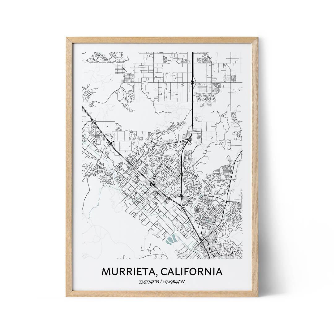 Murrieta city map poster