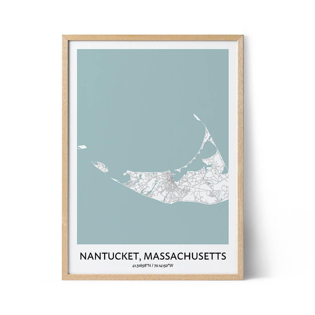 Nantucket city map poster