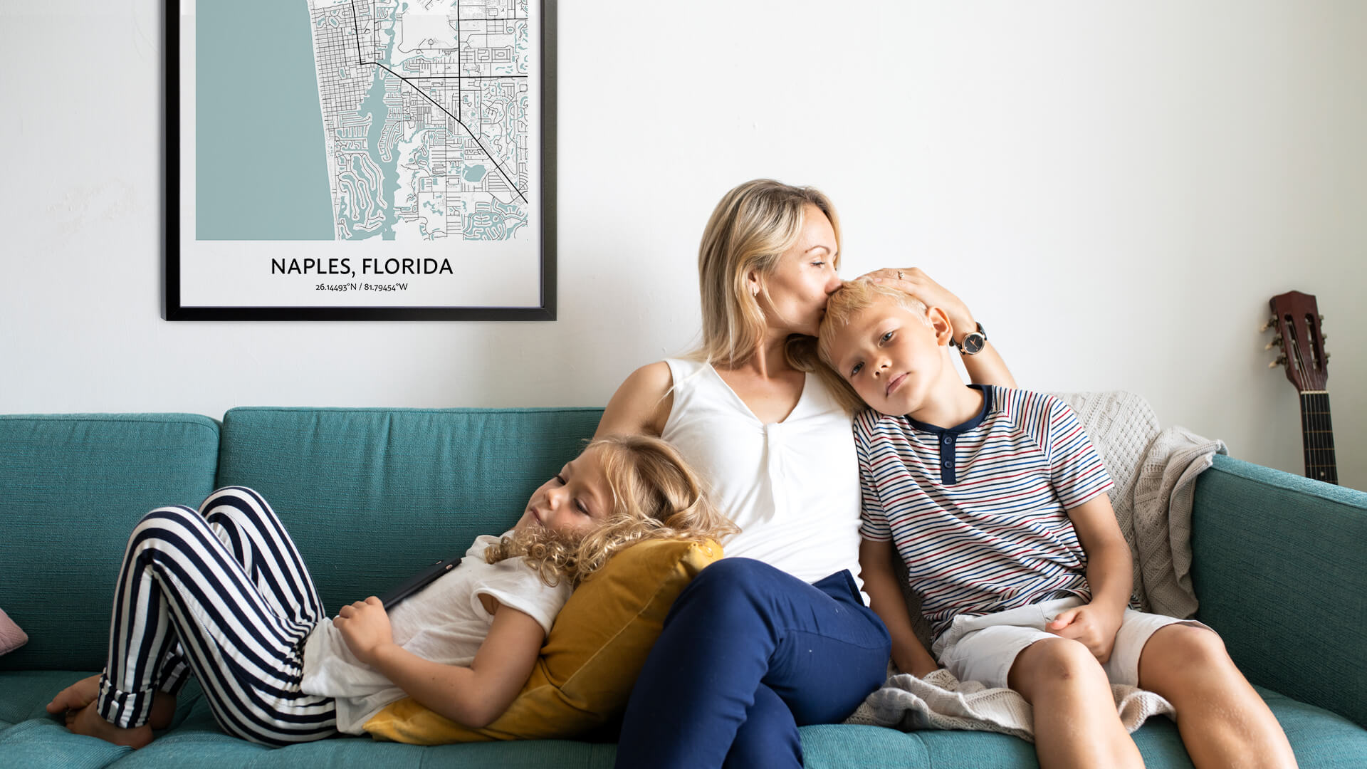 Naples map poster