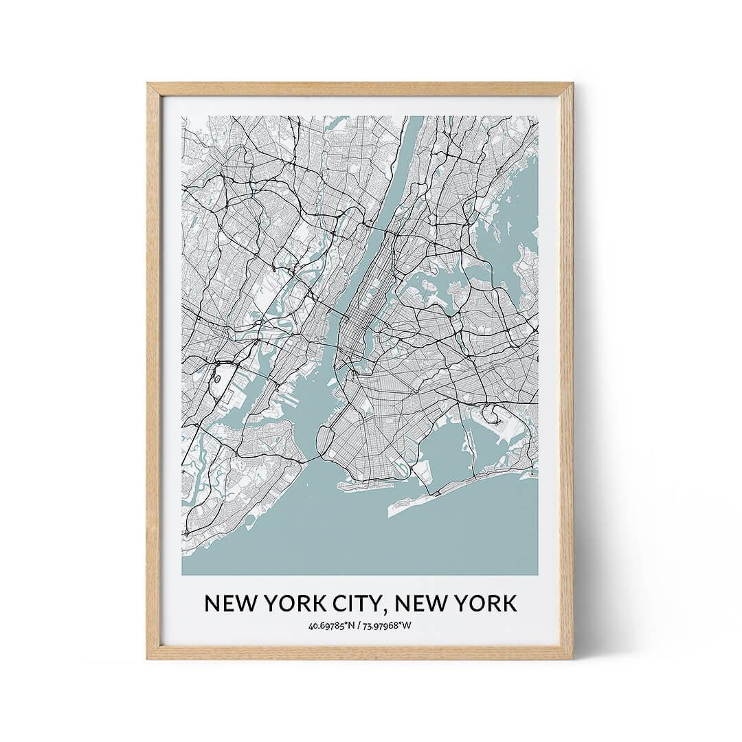 New York City city map poster