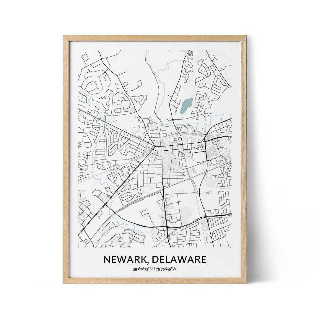 Newark city map poster