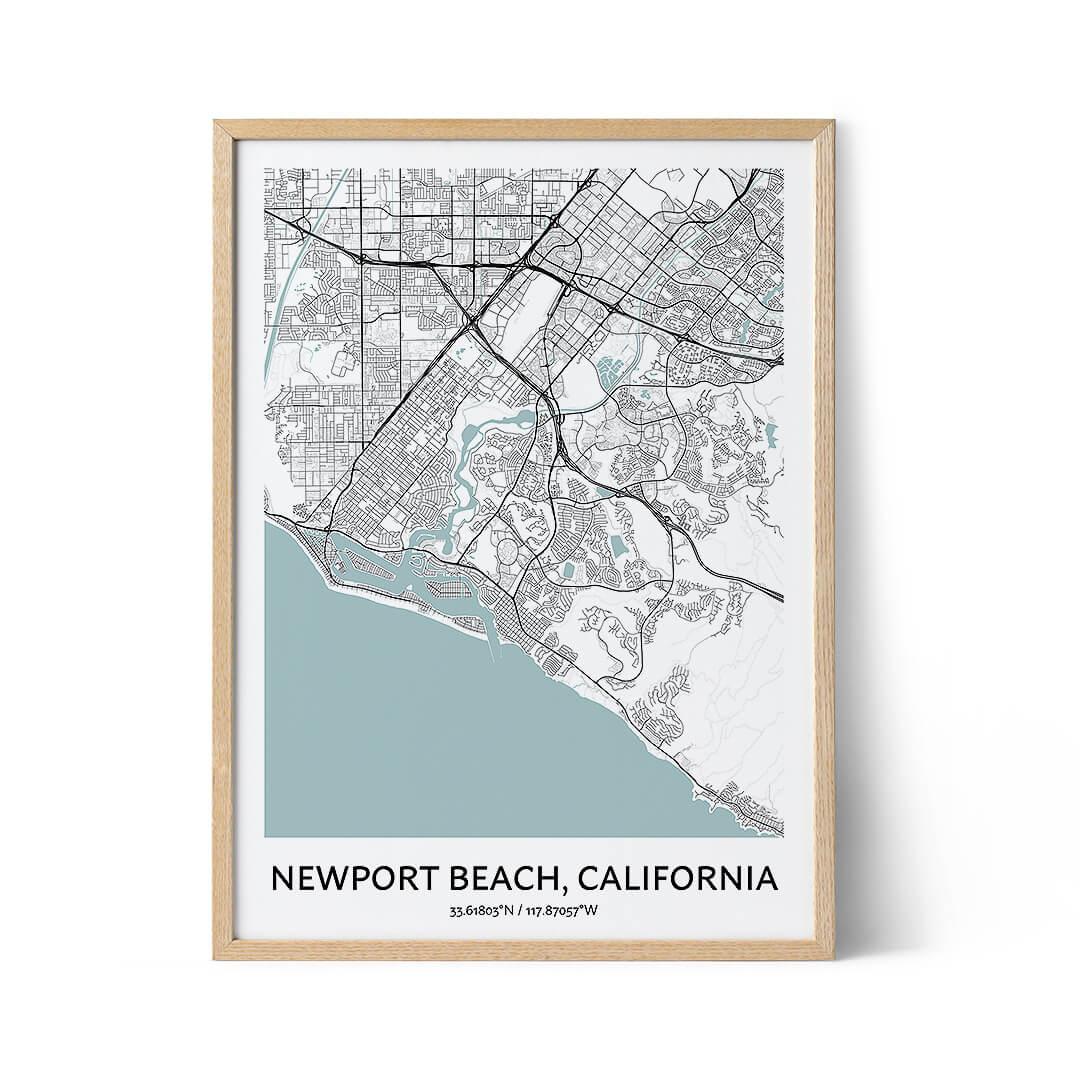 Newport Beach city map poster