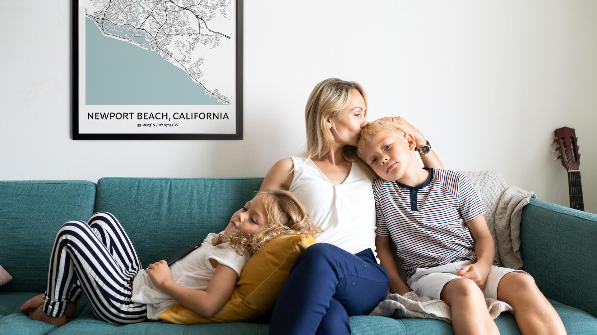 Newport Beach map poster