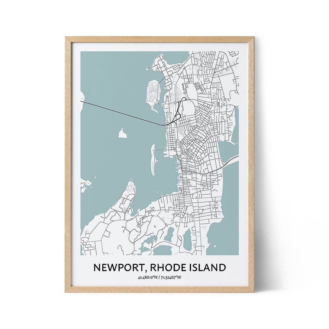 Newport city map poster