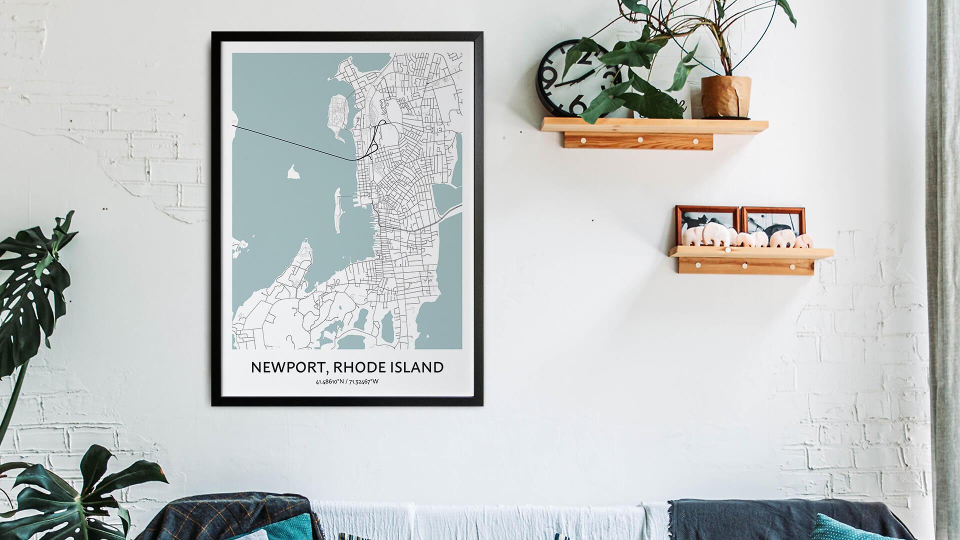 Newport map art