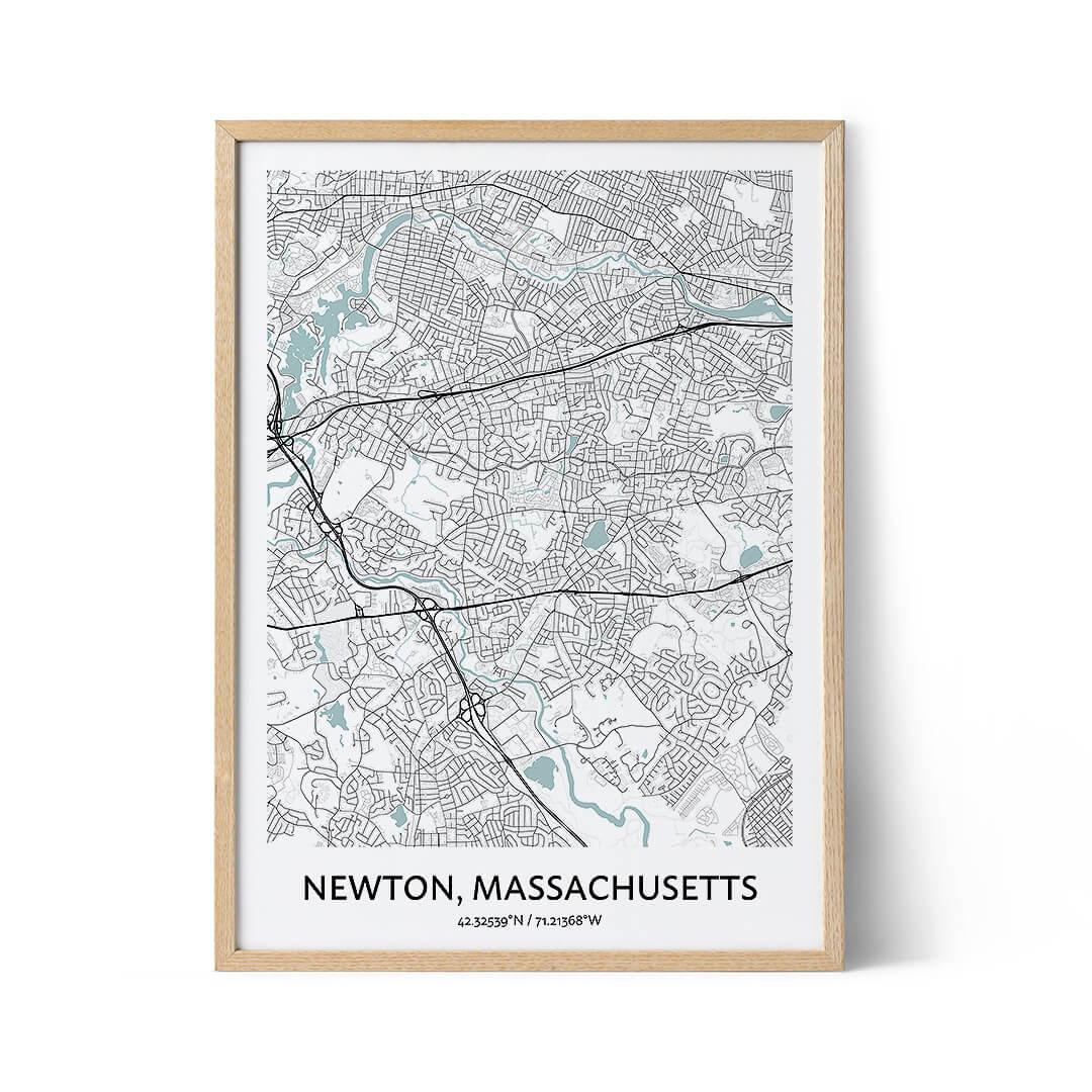 Newton city map poster