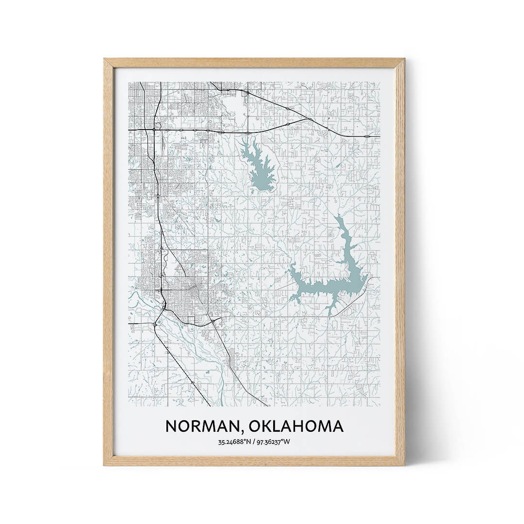 Norman city map poster