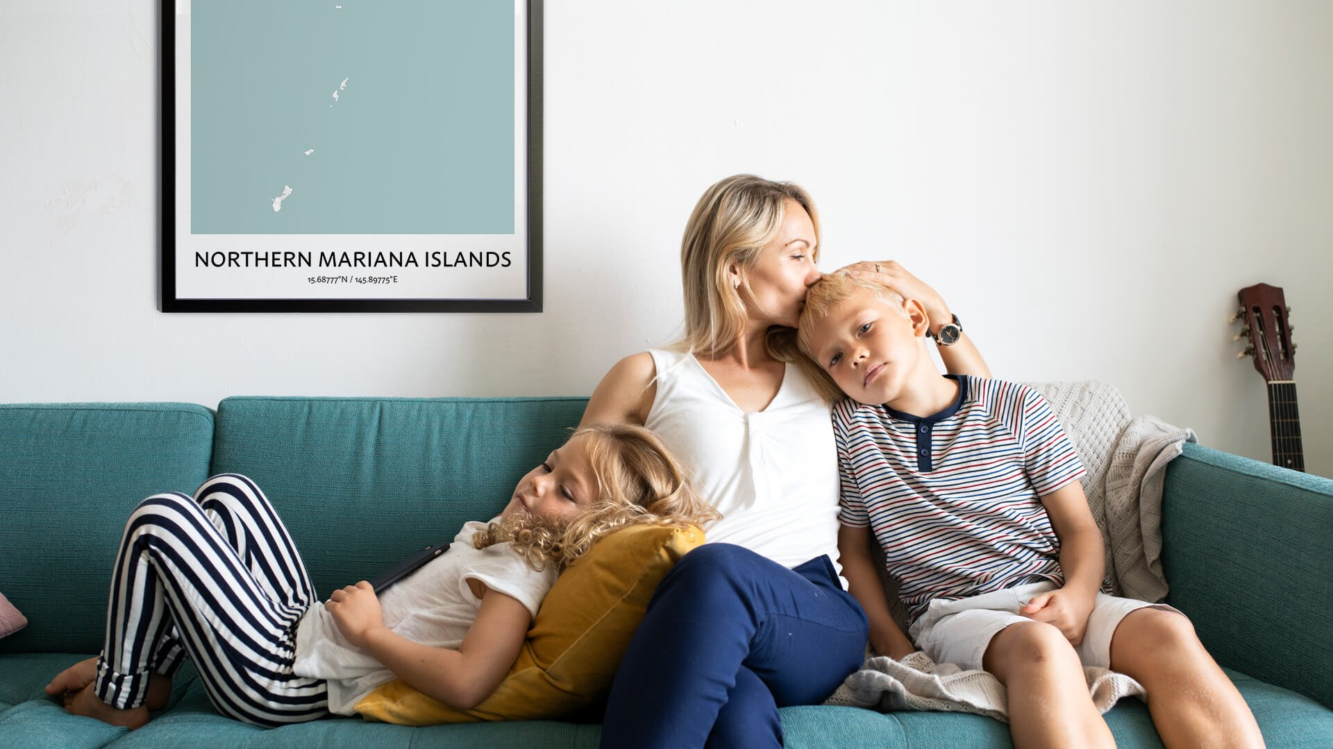 Northern Mariana Islands map poster